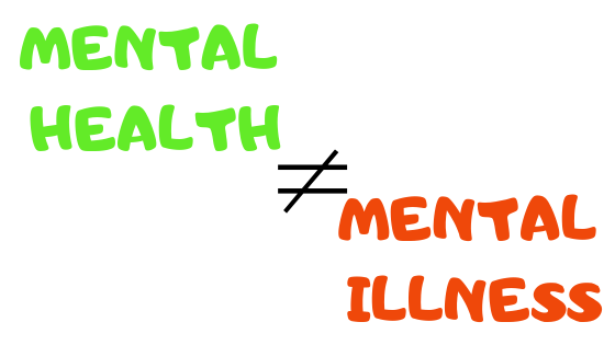 Please stop using the terms mental health and mental illness interchangeably they do not mean the same thing